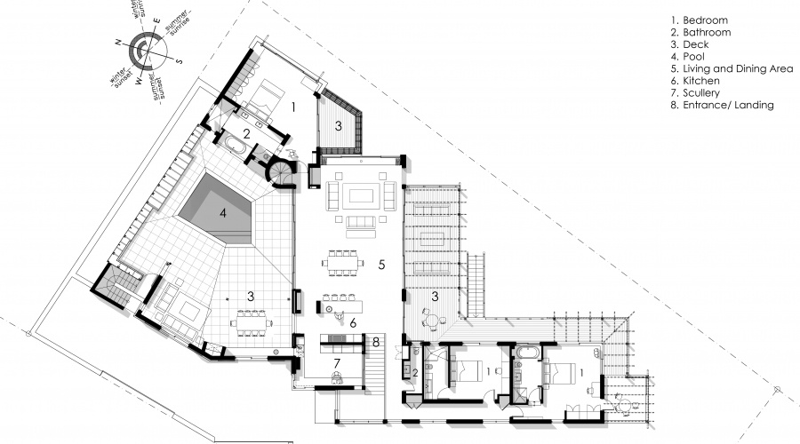 Upper level plan BEACH HOUSE, CAPE ST. FRANCIS
